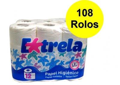 108 rolos papel higenico domestico